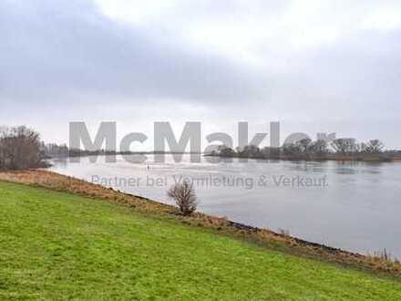 Elbidylle und 20 Min. zur Hafencity: Gehobenes EFH mit ELW und Nebengebäude auf großem Grundstück