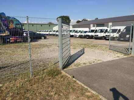 Umzäuntes Grundstück 2700 m2 am Baden-Airpark