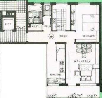 71 qm Wohnung in unmittelbarer Bahnhofsnähe, sofort beziehbar