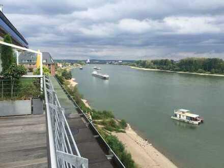 Penthouse-Wohnung mit riesiger Dachterrasse & Panorama-Rheinblick