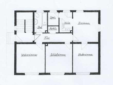 Ansprechende 4-Zimmer-Erdgeschosswohnung mit Einbauküche in Wackersdorf