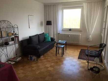 Gepflegte möblierte 1,5-Zimmerwohnung mit Balkon und Garage in Ruthenberg