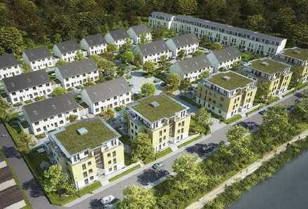 ***Bezugsfertig! Neubauwohnung mit Garten, viel Grün drumherum und einem Badesee vor der Haustür***
