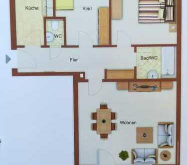 Sanierte 3-Zimmer-Wohnung mit Balkon und Einbauküche in Neu-Ulm, Pfuhl