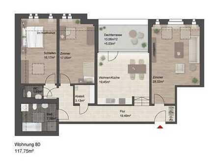 Tolle Dachgeschosswohnung mit besonderen Flair und Dachterrasse!