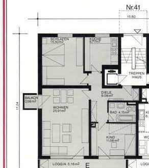 Schöne 3-Zimmer-Hochparterre-Wohnung mit 2 Balkonen in Worms Maklerfrei