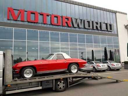 Mietfläche in der Motorworld Böblingen. Ideal für Autohändler etc.