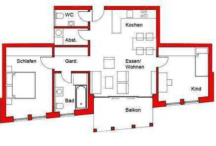"""Neues Wohnen am """"historischen Stadtgraben"""" in 88512 Mengen! (Wohnung 2)"""