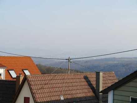 Helle Dachgeschoss-Wohnung mit Albblick