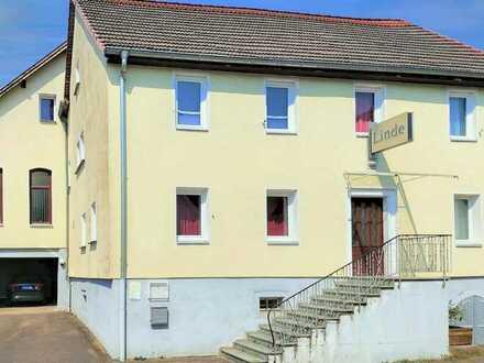 Großzügiges, gepflegtes Anwesen mit vielfältigen Nutzungsmöglichkeiten in Lobenfeld