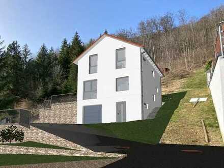 Projektiertes bezugsfertiges Einfamilienhaus mit unverbaubarer Aussicht