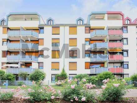 Vermietet und sehr gepflegt: 3-Zi.-ETW mit Balkon und TG-Stellplatz zentrumsnah in Frankenthal