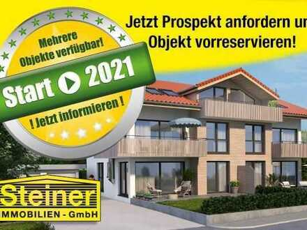 Neubau-Projekt: 4-Zimmer-Eck-Balkon-Wohnung, Kachelofen, LIFT, Garage, WHG-NR: 4 a