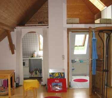 In Traumgartenlage, geräumige 1-Zimmer-DG-Wohnung mit Einbauküche in Laim, München