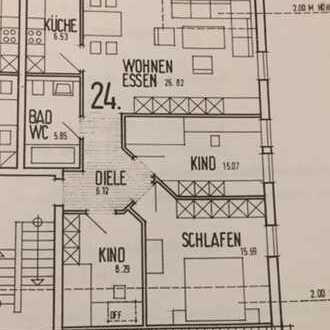 Gepflegte 4-Zimmer-DG-Wohnung mit Balkon in Endingen nähe Bhf.