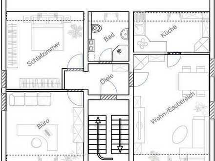 Freundliche, modernisierte 4-Zimmer-DG-Wohnung zur Miete in Mannheim - Waldhof Ost