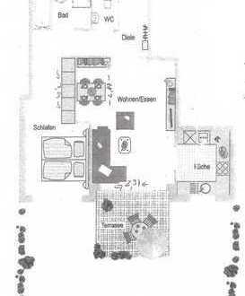 Neuwertige 2,5-Zimmer-Wohnung mit Balkon und EBK in Sachsenheim
