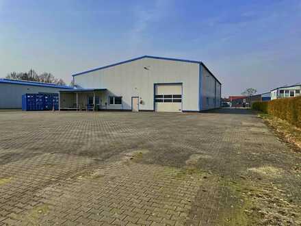 Verhandlungsbasis: Hallenfläche mit Werkstatt-, Lager-, Abstellbereichen sowie Sozial- & Büroräumen