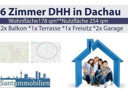 6 Zi. DHH mit Süd-Terrasse und 2x Süd-Balkon, nur 15 Gehmin zur S-Bahn