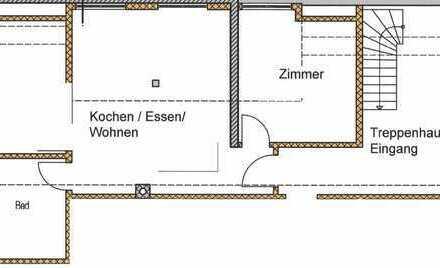 Helle, großzügige, 59,4 m², 2 Zi DG, Mietwohnung, Erstbezug