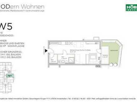 Ein-Zimmer-Whg. mit 49 m² und Gartenanteil