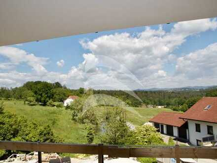 Erstbezug LICHTHOF PASSAU: Helle 2-Zimmer-Wohnung mit Balkon und Blick ins Grüne