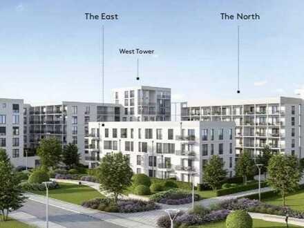 Erstbezug: moderne Neubau 3-Zimmer-Wohnung mit großem Balkon in Südausrichtung in Regensburg