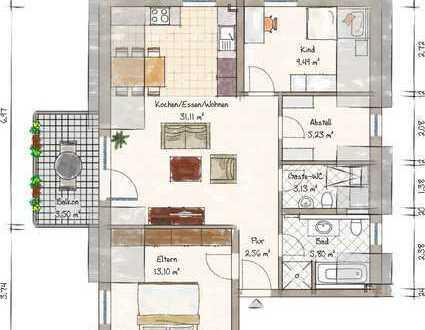 reserviert *** Exklusive 3 ZKB Wohnung im DG - Zentral in Maikammer - mit Aufzug und West-Balkon***