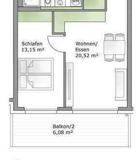 Erstbezug: attraktive 2-Zimmer-Wohnung mit Einbauküche und Balkon in Kaufbeuren