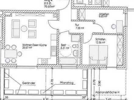 Exklusive, neuwertige 2,5-Zimmer-Wohnung mit Balkon und EBK in Augsburg-Lechhausen