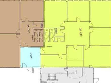 Büro im EG: Grundriss und Ausstattung nach Wunsch des Mieters (Archiv- und Lagerflächen optional)