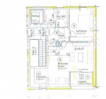 TOP Lage Neubau: Penthouse Wohnung, Nr.8, mit Loggia u. Aufzug