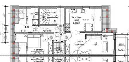 Neuwertige 3-Zimmer-Maisonette-Wohnung mit Balkon in Nordrhein-Westfalen - Delbrück