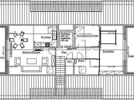 schöne Neubauwohnung 3 Zimmer DG mit 2 Balkonen