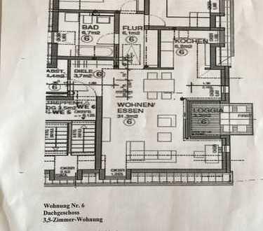 Exklusive, neuwertige 3,5-Zimmer-DG-Wohnung mit Balkon und EBK in Kornwestheim