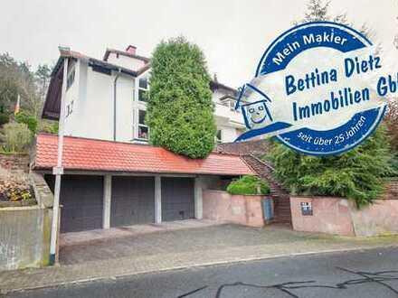 DIETZ: Unternehmer-Villa in FeldrandLage mit herrlichem Blick über Mömlingen! 40 Min bis Frankfurt