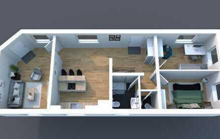 Eine möblierte 3ZKB-Wohnung in Ludwigshafen am Rhein an eine Firma zu vermieten!