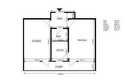 Günstige, renovierte und möblierte 2-Zimmer-Wohnung mit Balkon und Einbauküche in Wilhelmshaven