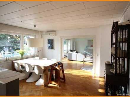Wohnung auf 180 m² mit Garten, Balkon, Kachelofen, Wintergarten, Pool und ggf. Sauna