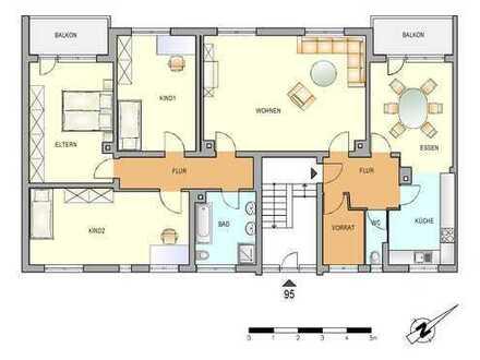 Großzügige 4,5-Zimmer-Wohnung mit zwei Balkonen
