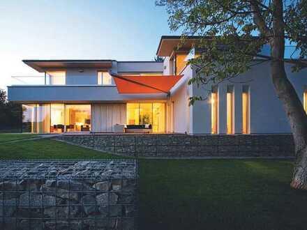 modernes Doppelhaus in Traumlage am Waldrand, Baugenehmigung vorhanden