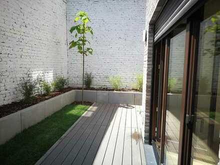 Erstbezug: 2-Zimmer-EG-Wohnung mit Garten und moderner Einbauküche in Sachsenhausen Nord Zentrum