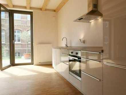 Maisonettewohnung im Hafenviertel - moderne 3 Zimmer mit Einbauküche und großer Terrasse