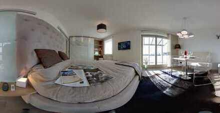 Stilvolle, neuwertige 1-Zimmer-Wohnung mit Balkon und Einbauküche in Landsberg am Lech