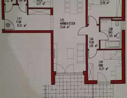 Erstbezug 3-Zimmer-Wohnung EG mit Terrasse und Garten