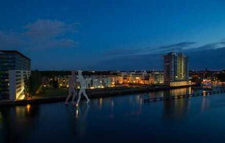 Direkt an der Spree !! 2-Zimmer Erstbezug in Luxus-Neubau WAVE mit Balkon, Parkett und Tiefgaragenst