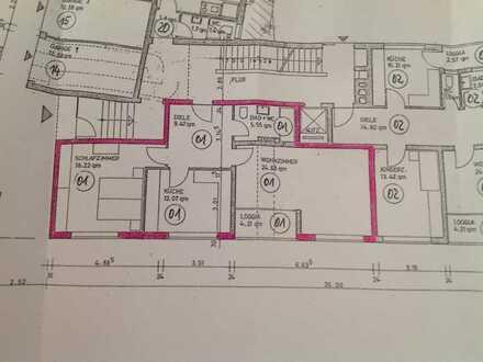 Schöne 2 Zimmer Wohnung mit Westbalkon in zentraler Lage zu vermieten