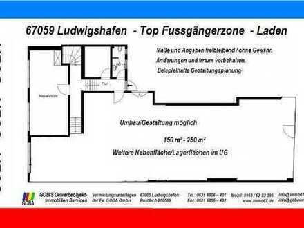 !! Lu TOP - Fussgängerzone - Laden ca. 250 m² - erweiterbar
