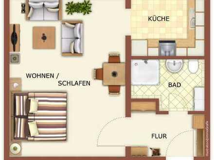 Single-Wohnung in ruhiger und grüne Wohnanlage in Leubnitz-Neuostra