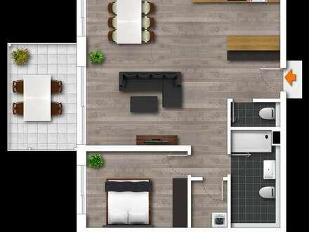 Helle 2 Zimmer-Wohnung in guter Lage